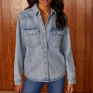 Aritzia Denim Forum The Patti Shirt Jacket Small
